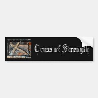 Cruz de la fuerza etiqueta de parachoque