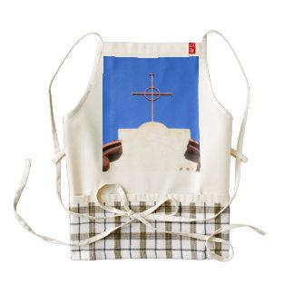 Cruz de la iglesia delantal zazzle HEART