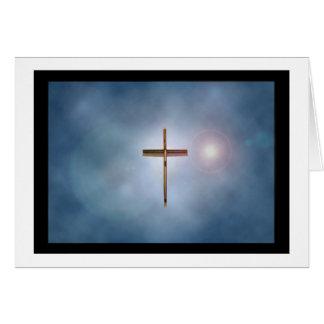 Cruz de la iglesia tarjeta pequeña
