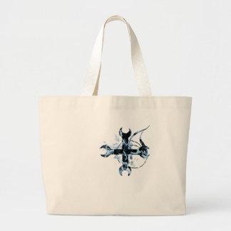 Cruz de la luna negra y azul bolsa