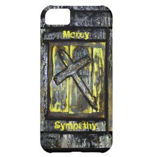 Cruz de la misericordia y de la condolencia funda para iPhone 5C