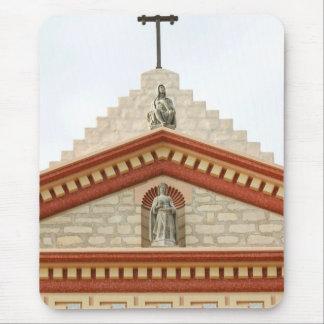 Cruz de la misión de Santa Barbara Tapete De Ratones