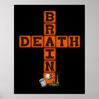 Cruz de la muerte de cerebro póster