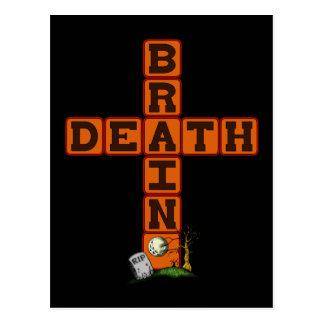 Cruz de la muerte de cerebro tarjeta postal