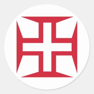 Cruz de la orden de Cristo Pegatinas Redondas