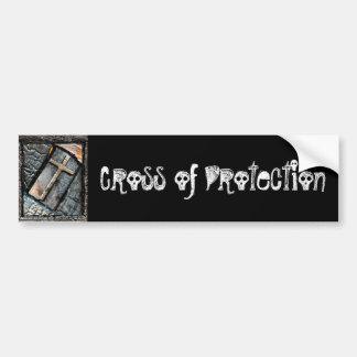 Cruz de la protección etiqueta de parachoque