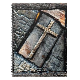 Cruz de la protección libro de apuntes con espiral