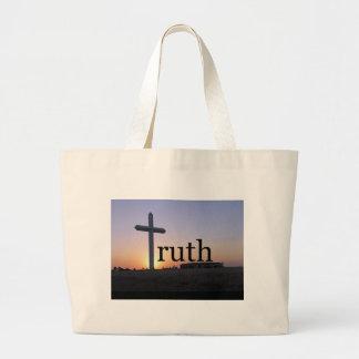 Cruz de la puesta del sol de la verdad bolsa