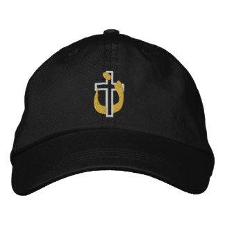 Cruz de la religión y símbolo cristianos del gorra de béisbol bordada