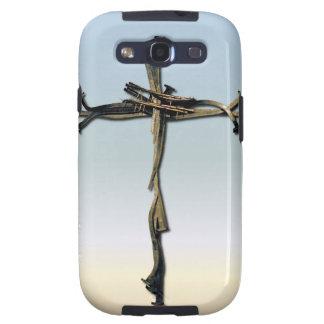 Cruz de la reserva de Jesús de los clavos rústica Galaxy S3 Carcasa