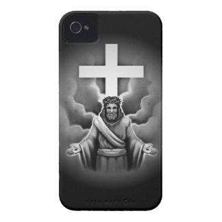 Cruz de la resurrección del Jesucristo iPhone 4 Case-Mate Cárcasas
