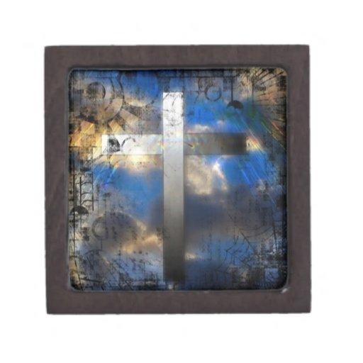 Cruz de la salvación caja de recuerdo de calidad