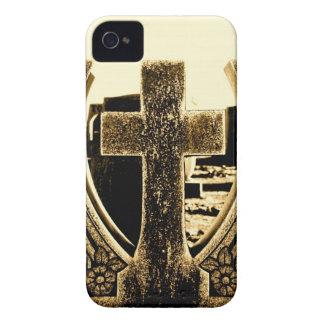 Cruz de la sepia Case-Mate iPhone 4 protector
