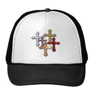 cruz de la textura de la plata del estampado de an gorras de camionero