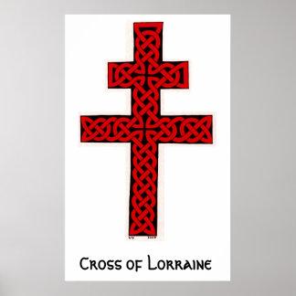 Cruz de Lorena céltica Póster