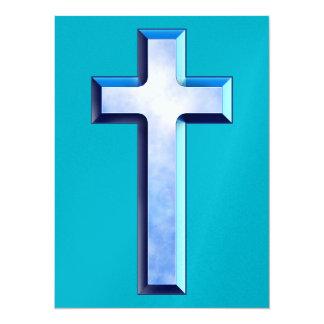 Cruz de los cielos azules invitación 13,9 x 19,0 cm