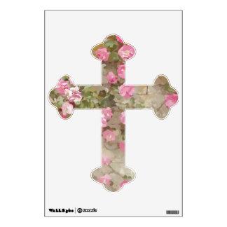 Cruz de los rosas del efecto del Watercolour que Vinilo Decorativo