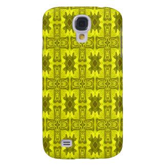 Cruz de madera abstracta amarilla funda para galaxy s4