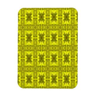 Cruz de madera abstracta amarilla imán flexible