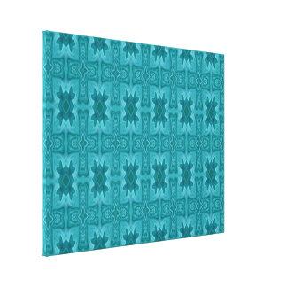 Cruz de madera abstracta azul impresión en lona