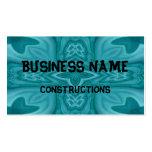 Cruz de madera abstracta azul tarjetas de visita