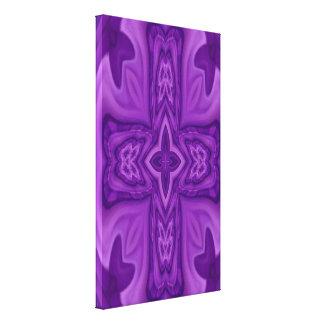 Cruz de madera abstracta púrpura impresión en lienzo estirada