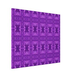 Cruz de madera abstracta púrpura impresión en lona estirada
