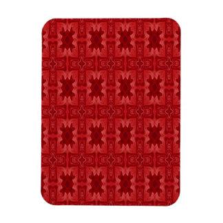 Cruz de madera abstracta roja imán flexible