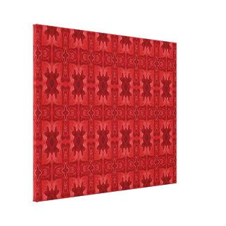 Cruz de madera abstracta roja impresión en lienzo estirada