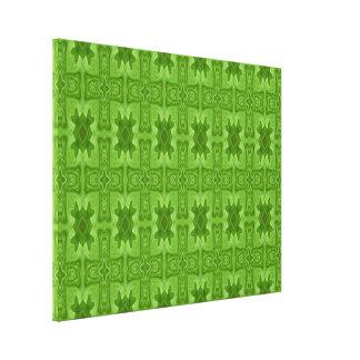 Cruz de madera abstracta verde lona envuelta para galerías