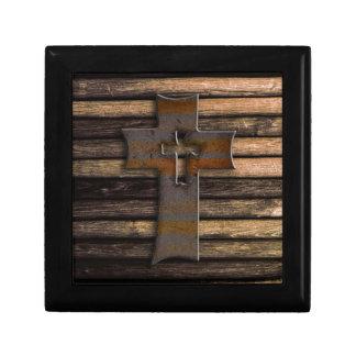Cruz de madera cajas de regalo