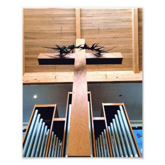 Cruz de madera cojinete