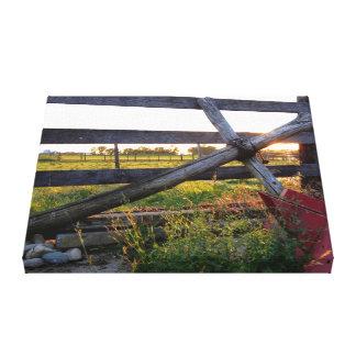 Cruz de madera del país impresiones de lienzo