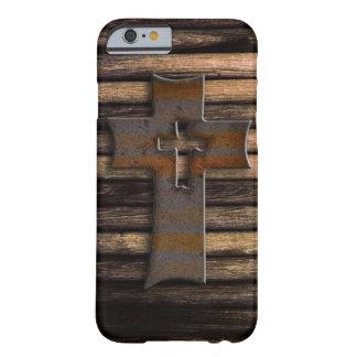 Cruz de madera funda de iPhone 6 barely there