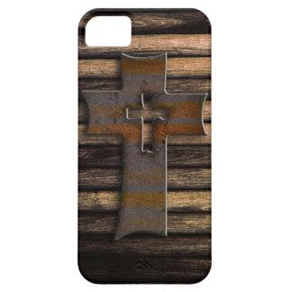 Cruz de madera iPhone 5 cárcasas