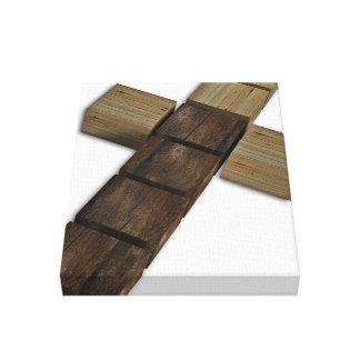 Cruz de madera impresión en lona estirada