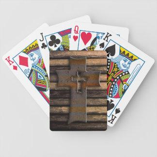 Cruz de madera natural de Brown Barajas De Cartas