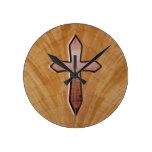 Cruz de madera reloj
