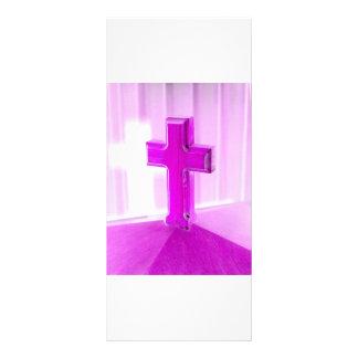 Cruz de madera, versión púrpura, iglesia de la fot plantillas de lonas