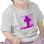 Cruz de madera, versión púrpura, iglesia de la camisetas