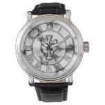 Cruz de mármol reloj