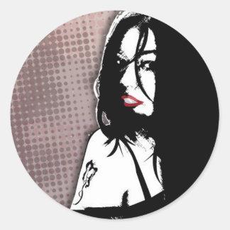 Cruz de Michelle - músico del rock-and-roll del Etiqueta Redonda