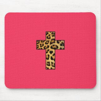 Cruz de moda de la impresión del guepardo de la mo