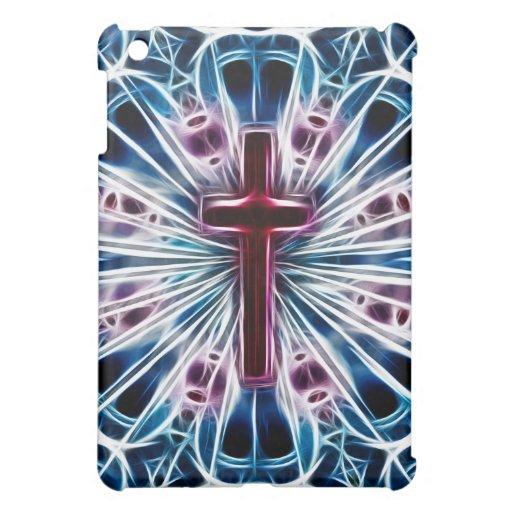 Cruz de neón del fractal