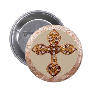 Cruz de NOVINO con los diamantes Pin