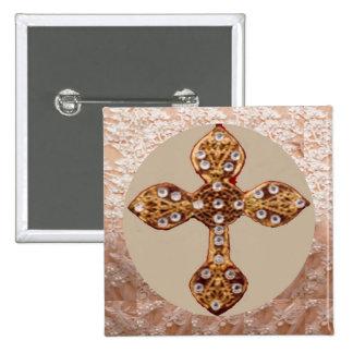 Cruz de NOVINO con los diamantes Pins