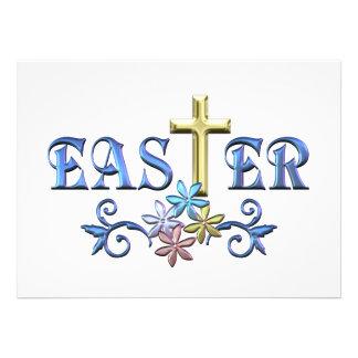 Cruz de Pascua Comunicado Personalizado