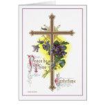 Cruz de Pascua del vintage Felicitacion