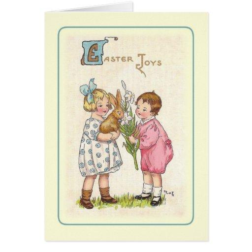 Cruz de Pascua del vintage Tarjeta
