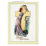 Cruz de Pascua del vintage Tarjeton